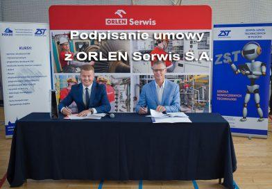 Podpisanie umowy z ORLEN Serwis S.A.