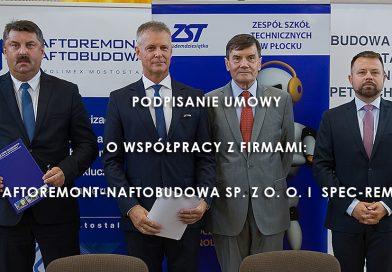 Podpisanie umowy o współpracy z firmami: Naftoremont-Naftobudowa Sp. z o. o. i  Spec-Rem S.A.